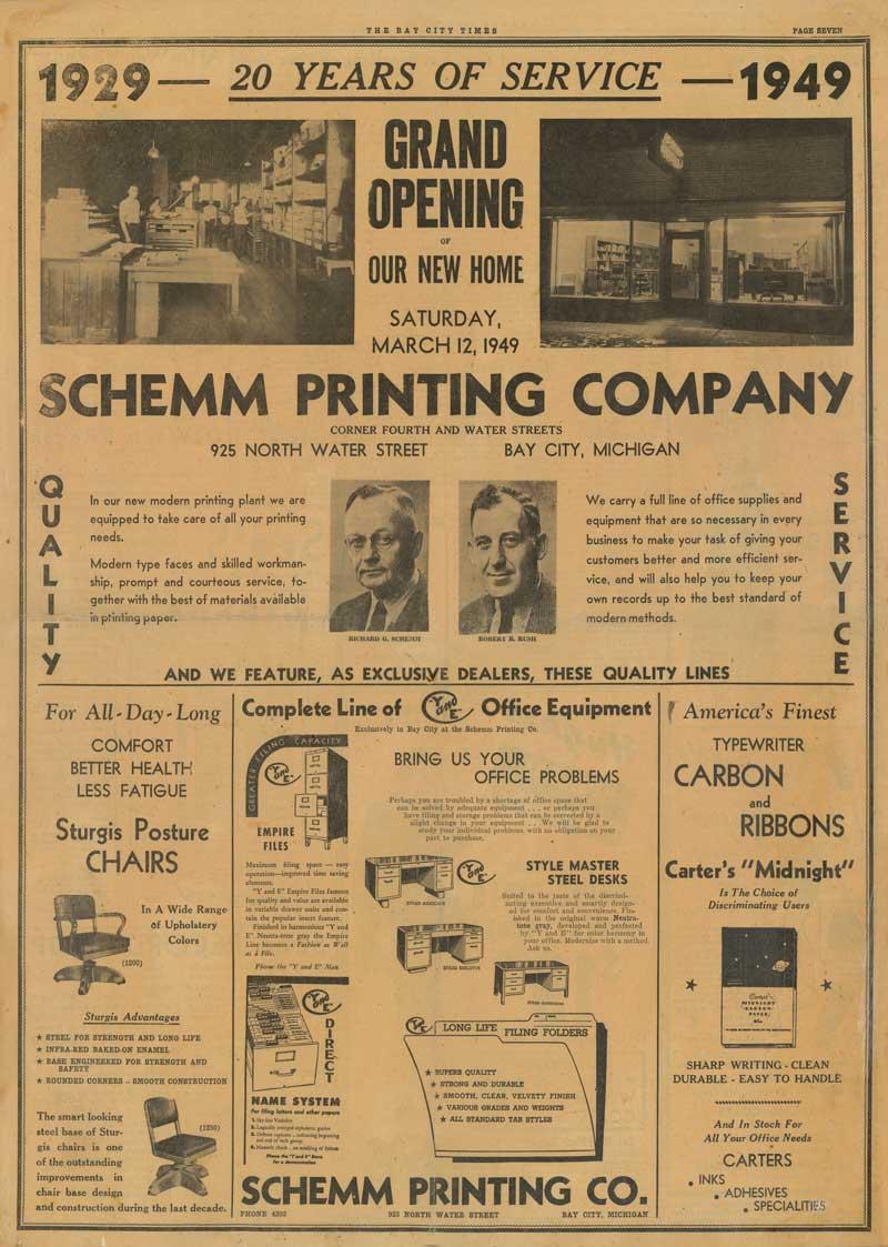 Rush Ad 1949